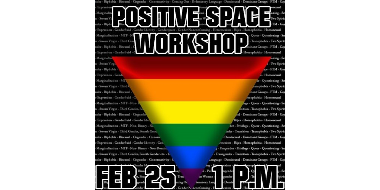 Wellness Week: Positive Space Workshop Event Logo