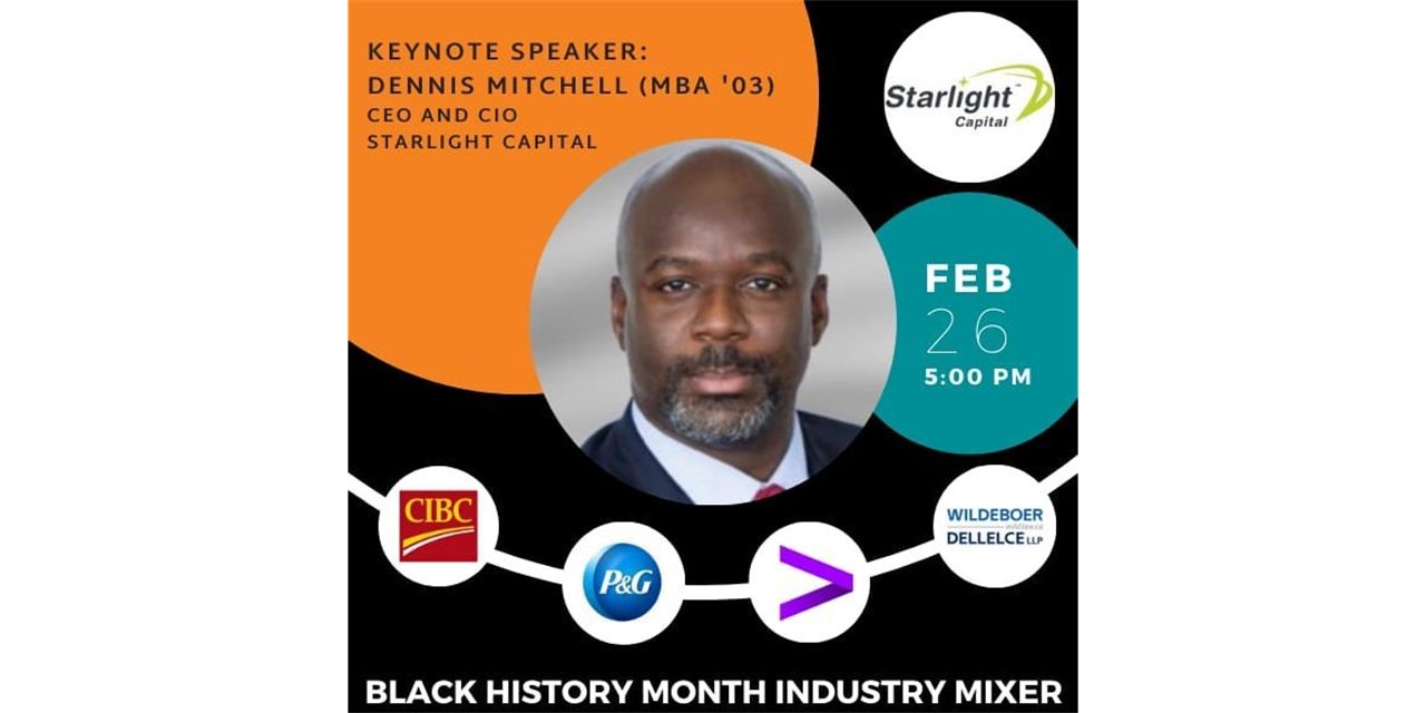 Black History Month Industry Mixer Event Logo