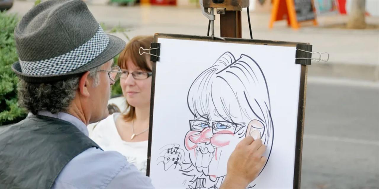 Virtual Digital Caricatures Event Logo