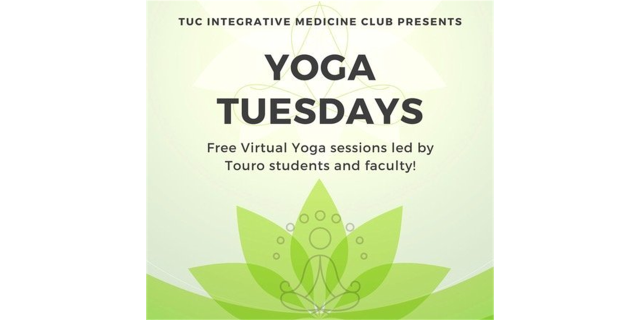 Integrative Medicine Club Weekly Yoga Event Logo