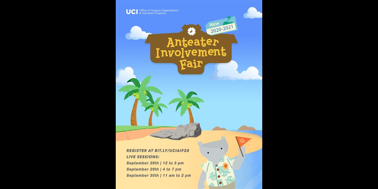 Virtual Anteater Involvement Fair Event Logo