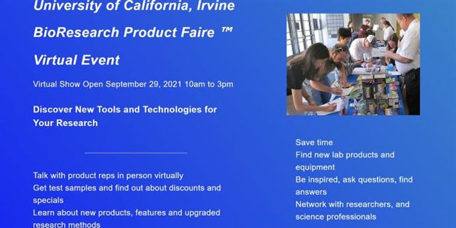 UC Irvine BioResearch Product Faire™ Virtual Event