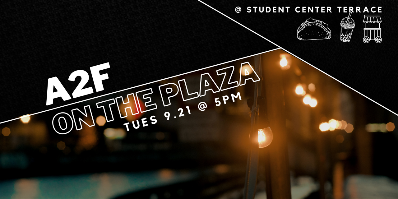 A2F on the Plaza Event Logo