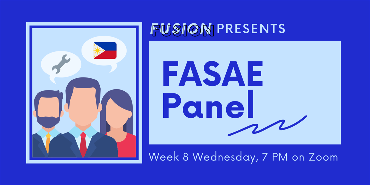 FUSION's 8th Winter General Meeting - FASAE Panel Event Logo