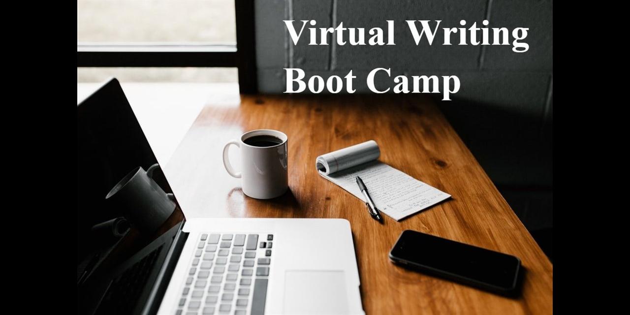 Virtual Writing Boot Camp Event Logo