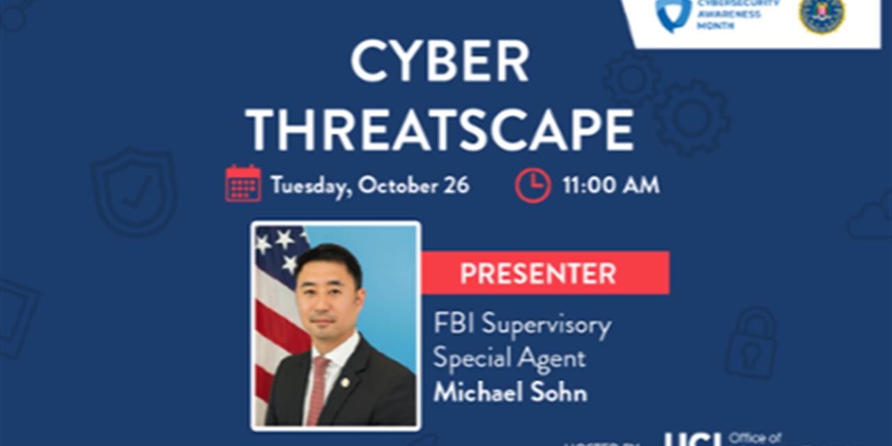 FBI Presentation: Cyber Threatscape Event Logo