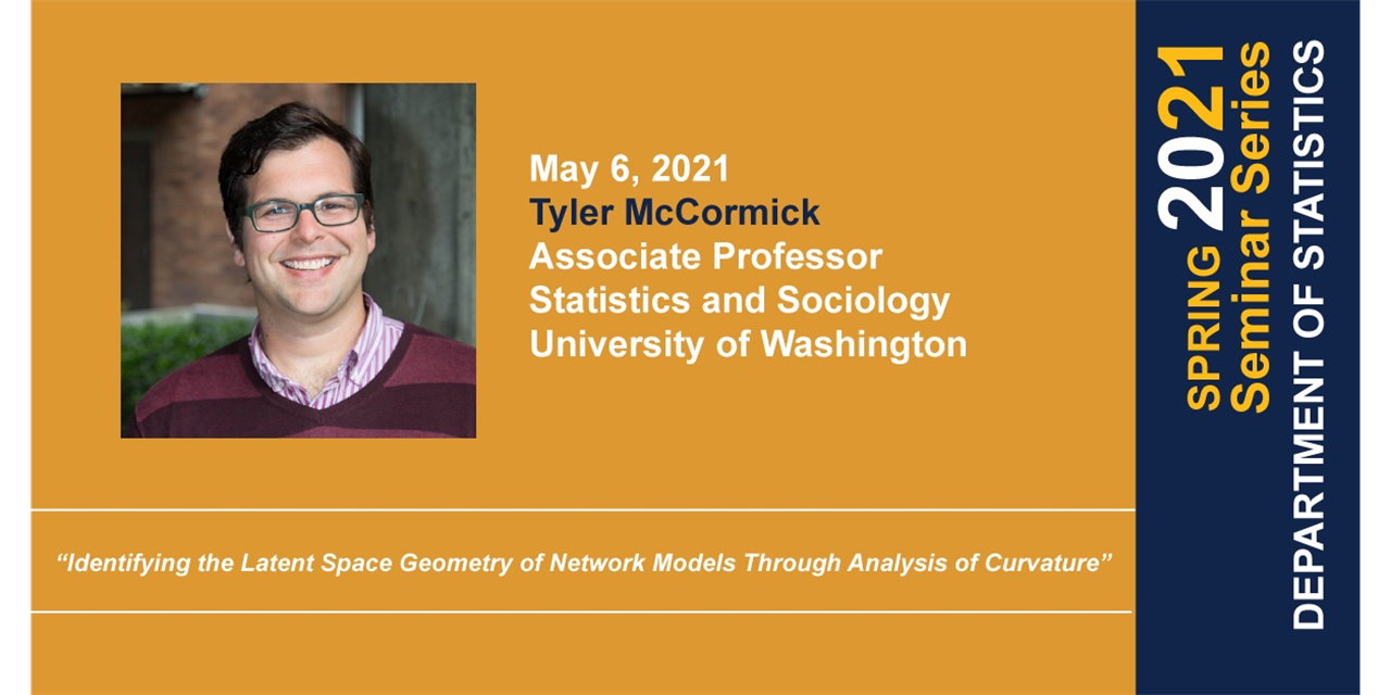 STAT Seminar: Identifying the Latent Space Geometry of Network Models Through Analysis of Curvature Event Logo