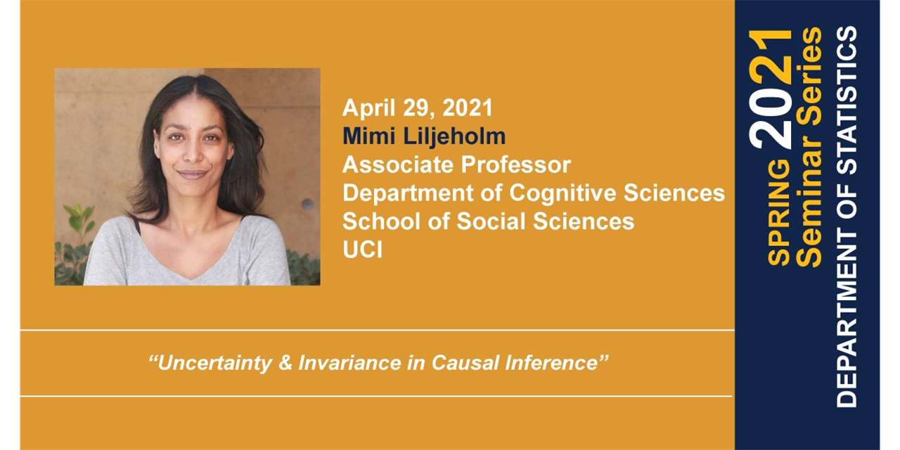 STAT Seminar: Uncertainty & Invariance in Causal Inference Event Logo