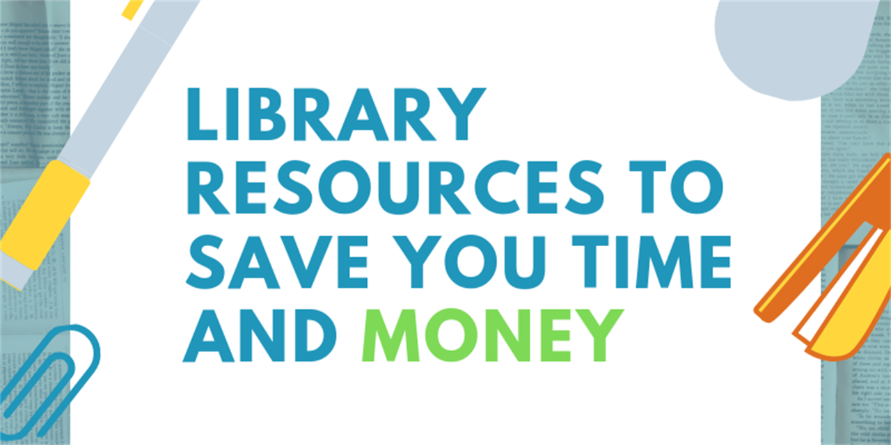 Library Resources to Save You Time and Money Event Logo