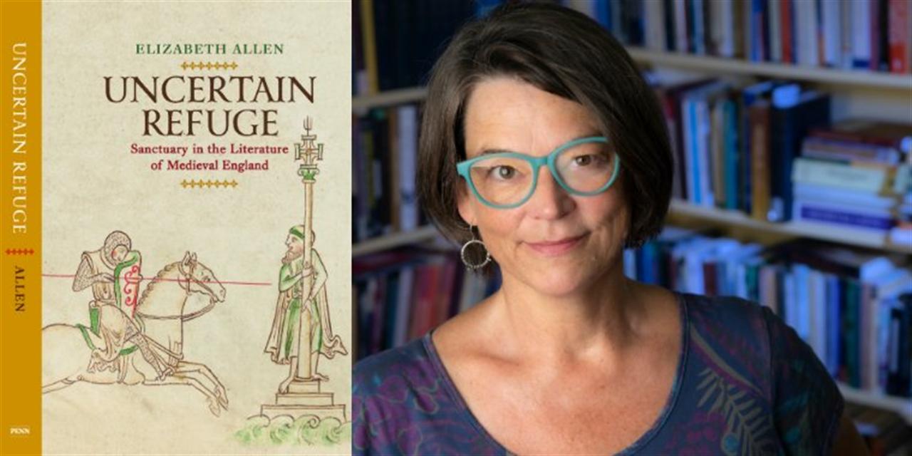 "Book Party: Elizabeth Allen, ""Uncertain Refuge: Sanctuary in the Literature of Medieval England"" Event Logo"