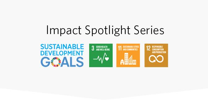 Impact Spotlight / Good Health and Well-being - Dr. Rishi Manchanda of HealthBegins Event Logo