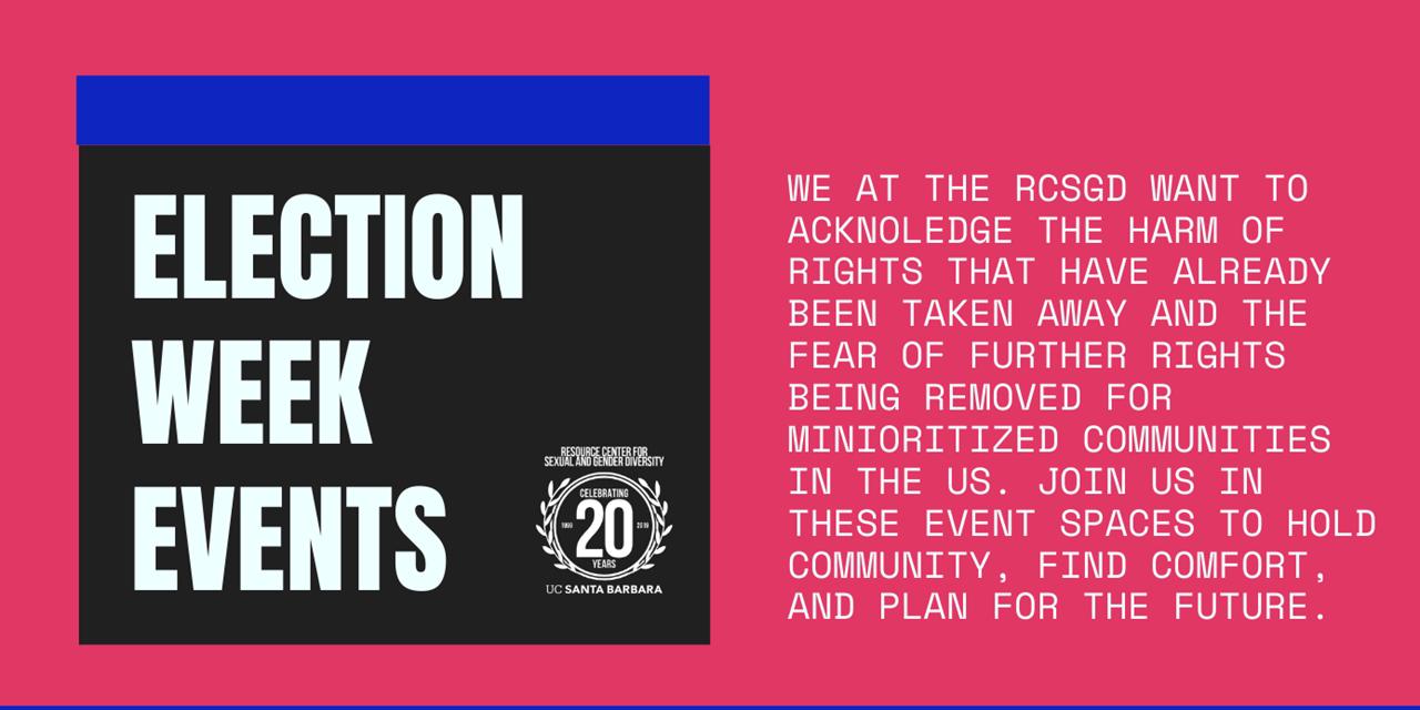 LGBTQ+ Election Decompression Space Event Logo