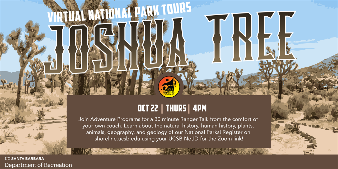 Joshua Tree National Park! Live virtual tours of the National Park!  Free! | Thursday | 4 pm | Oct 22