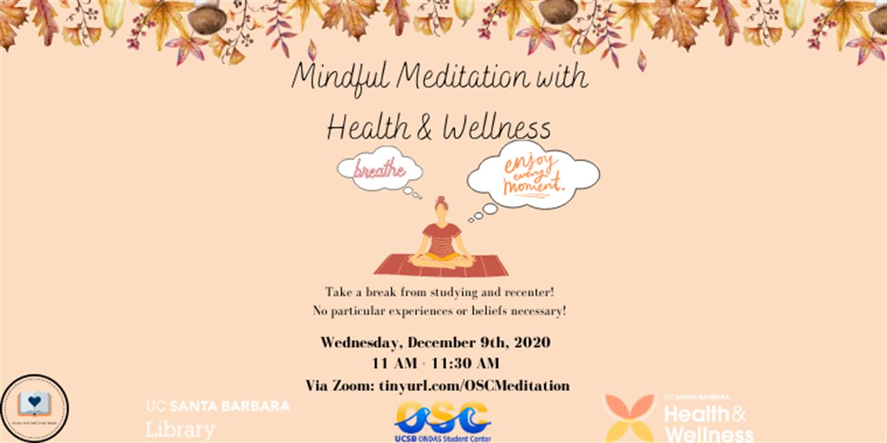 Study Break: Mindful Meditation Event Logo