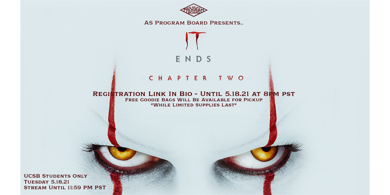 Free Tuesday Film: IT Chapter 2 Event Logo