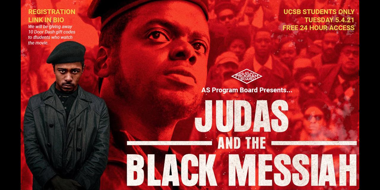 Free Tuesday Film: Judas and The Black Messiah Event Logo