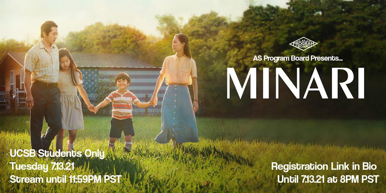 Free Tuesday Film: Minari Event Logo
