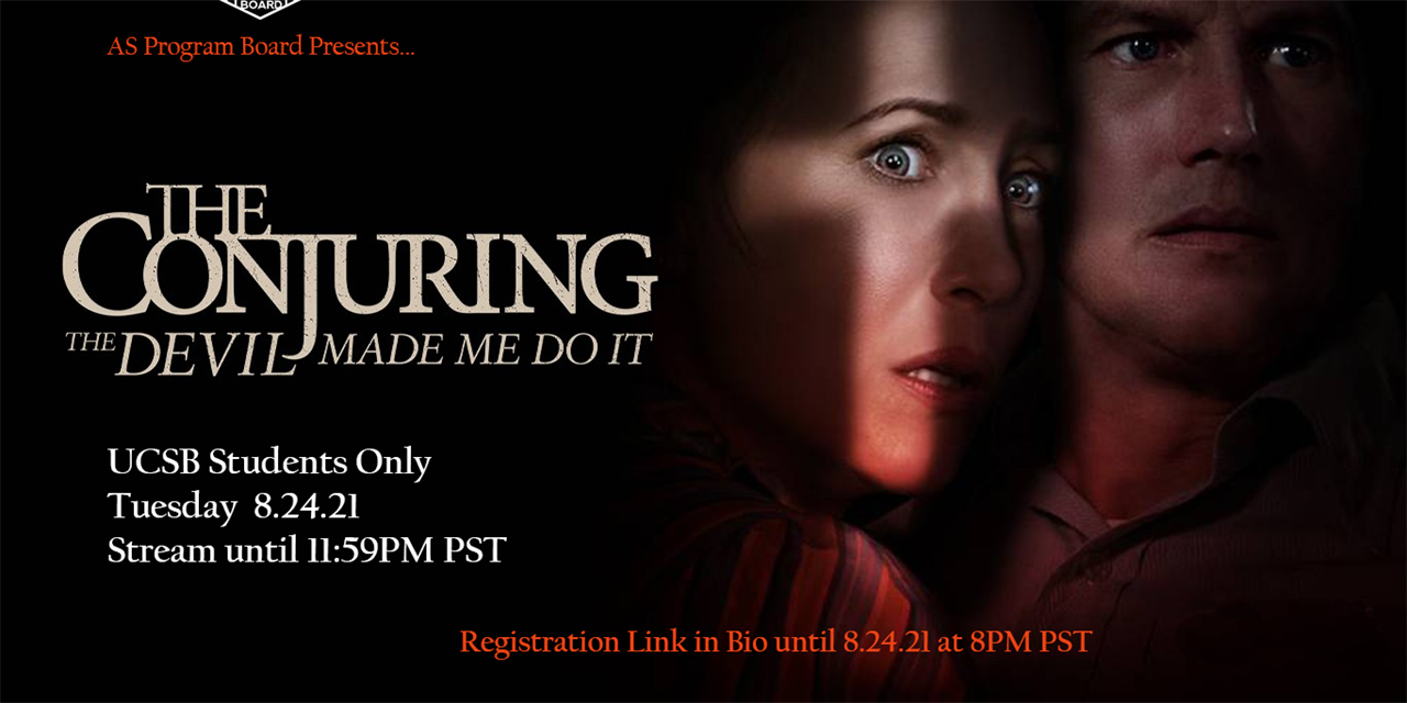 Free Tuesday Film: The Conjuring: The Devil Made Me Do It Event Logo