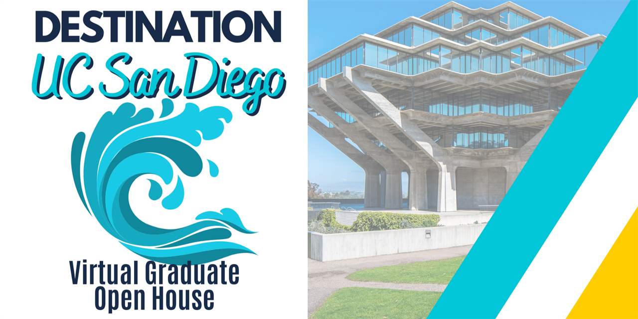 2020 DESTINATION UC San Diego Virtual Graduate Open House Event Logo