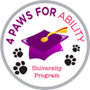 4 Paws for Ability UD's logo