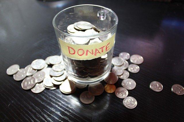 Donation change jar