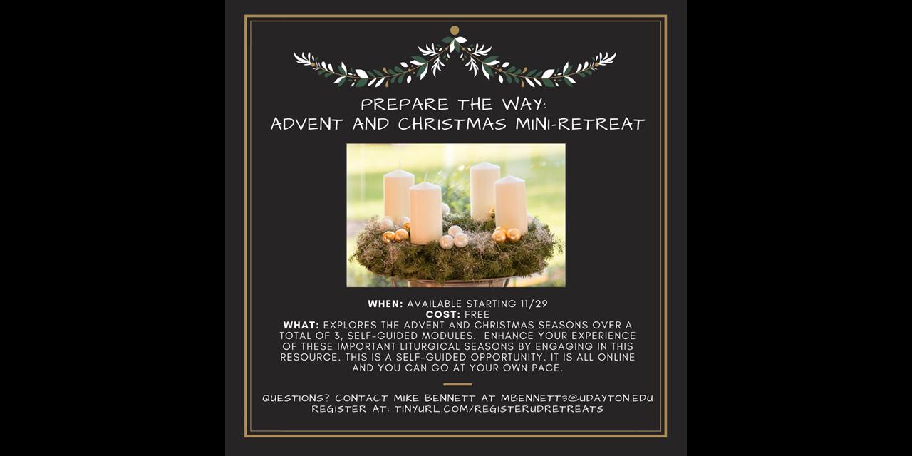 Prepare the Way: Advent and Christmas Mini-Retreat Event Logo