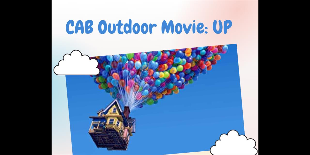 CAB Outdoor Movie: UP Event Logo