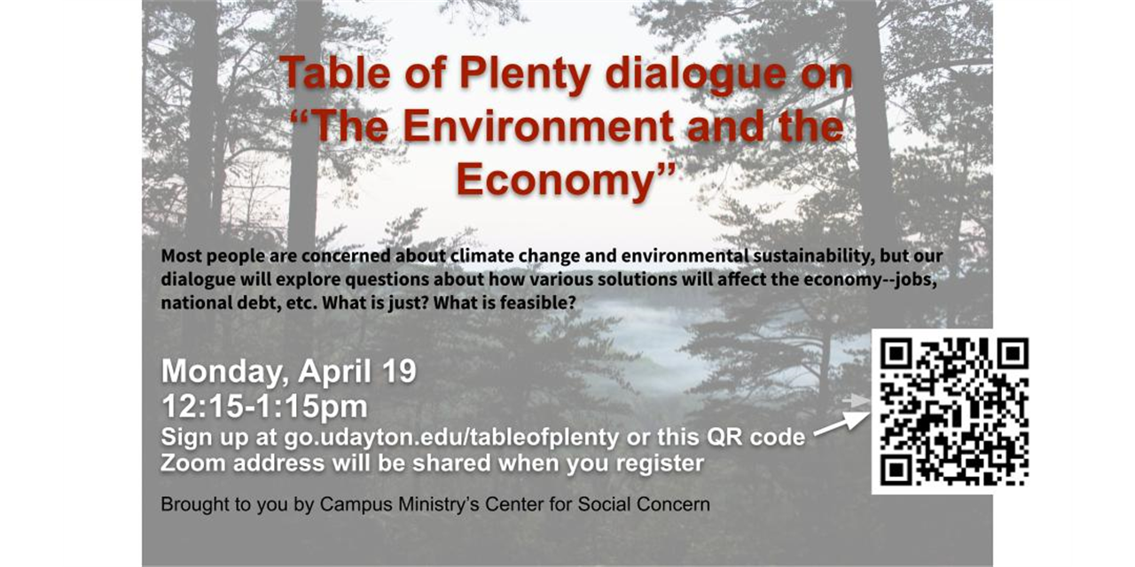 Table of Plenty: The Environment and the Economy Event Logo