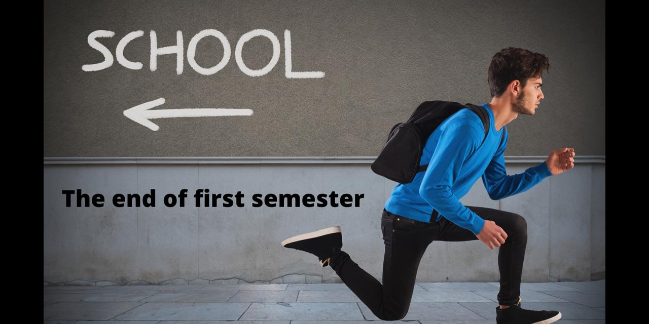 First Semester Ends Event Logo