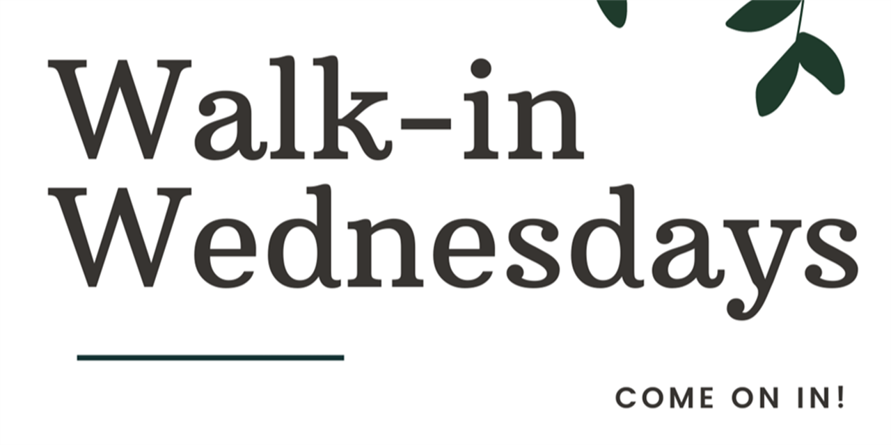 Walk-in Wednesday Event Logo