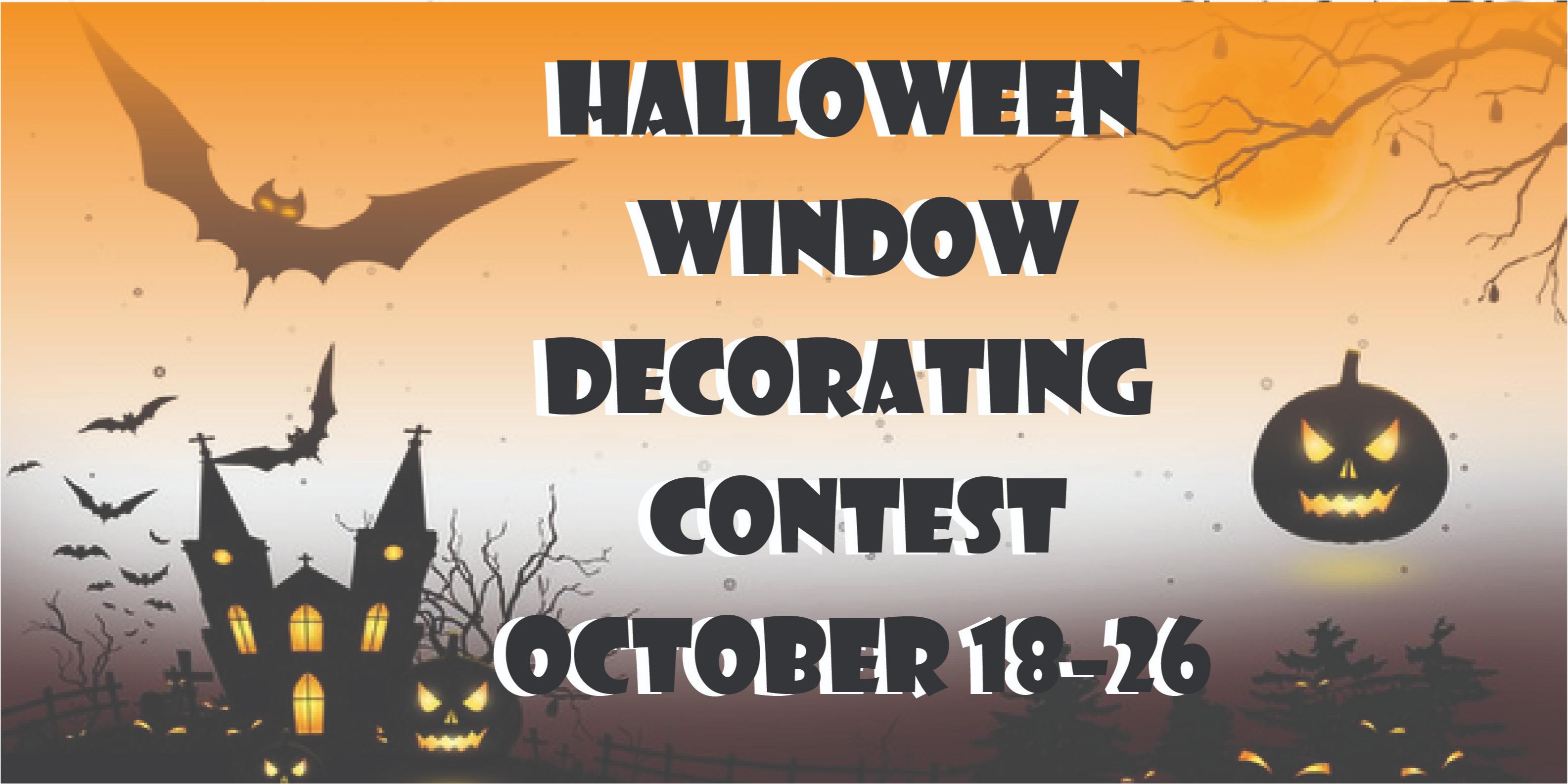 Halloween Window Decorating Contest