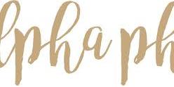 Alpha Phi Recruitment Tabling Event Logo