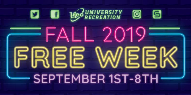 Free Week at Urec Event Logo
