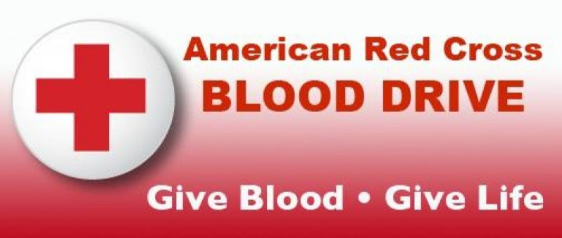 Image of Red Cross with words American Red Cross Blood Drive