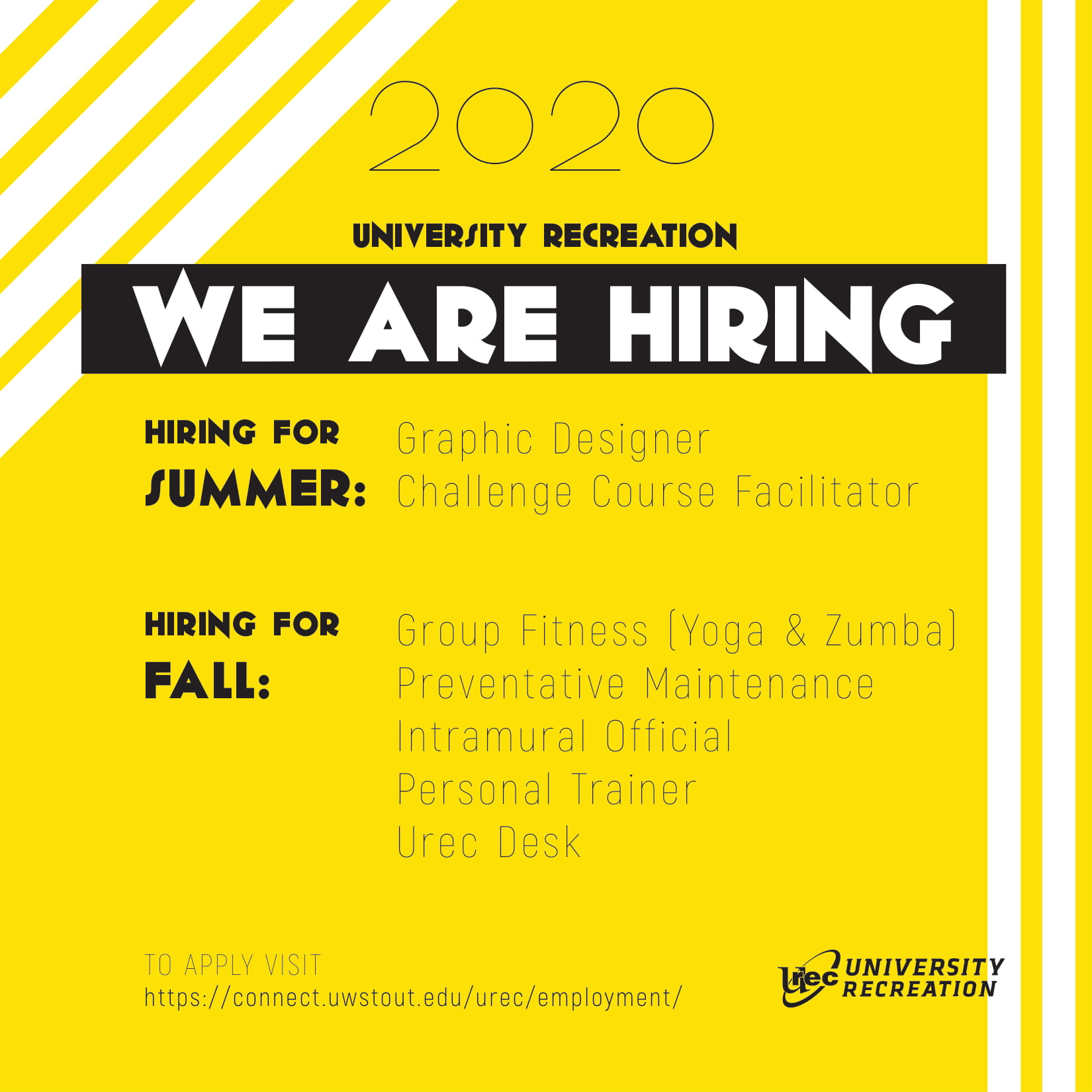 University Recreation Hiring