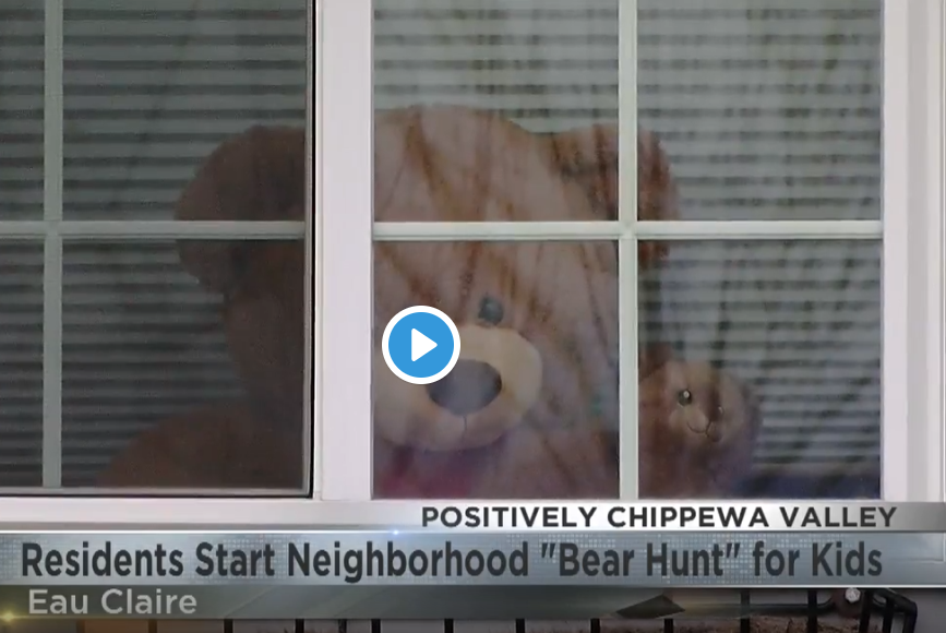 Eau Claire residents start neighborhood 'bear hunt' for kids