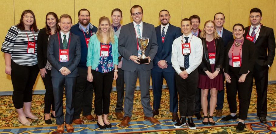 CMAA Chapter members accepting award for Chapter of the Year