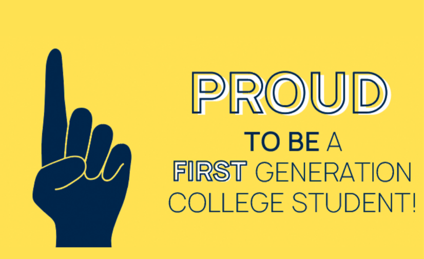Proud to  be a first generation college student