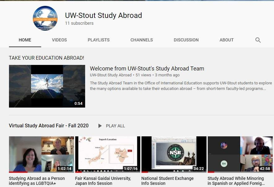 Study Abroad YouTube channel