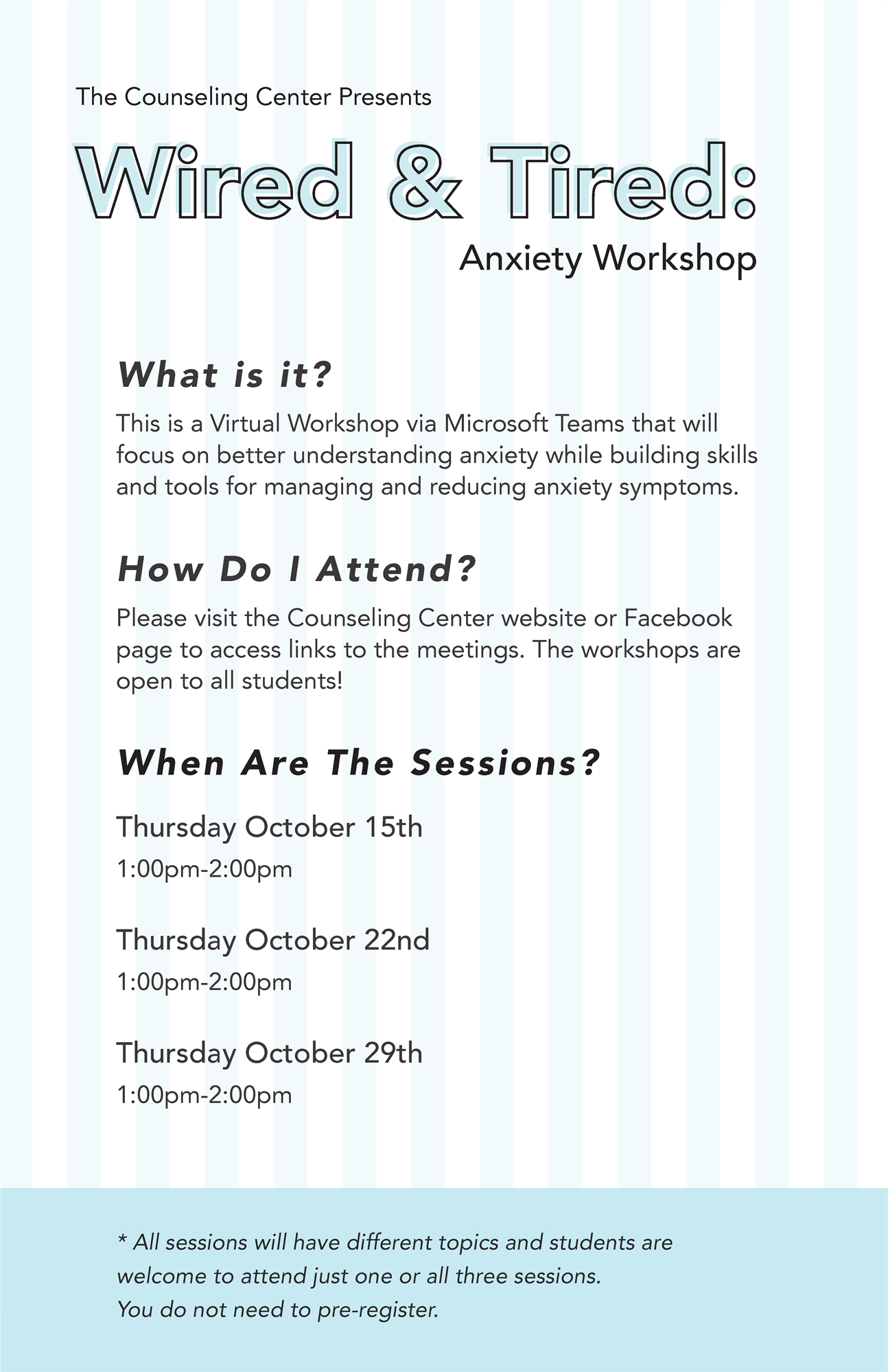 Wired & Tired Anxiety Workshop