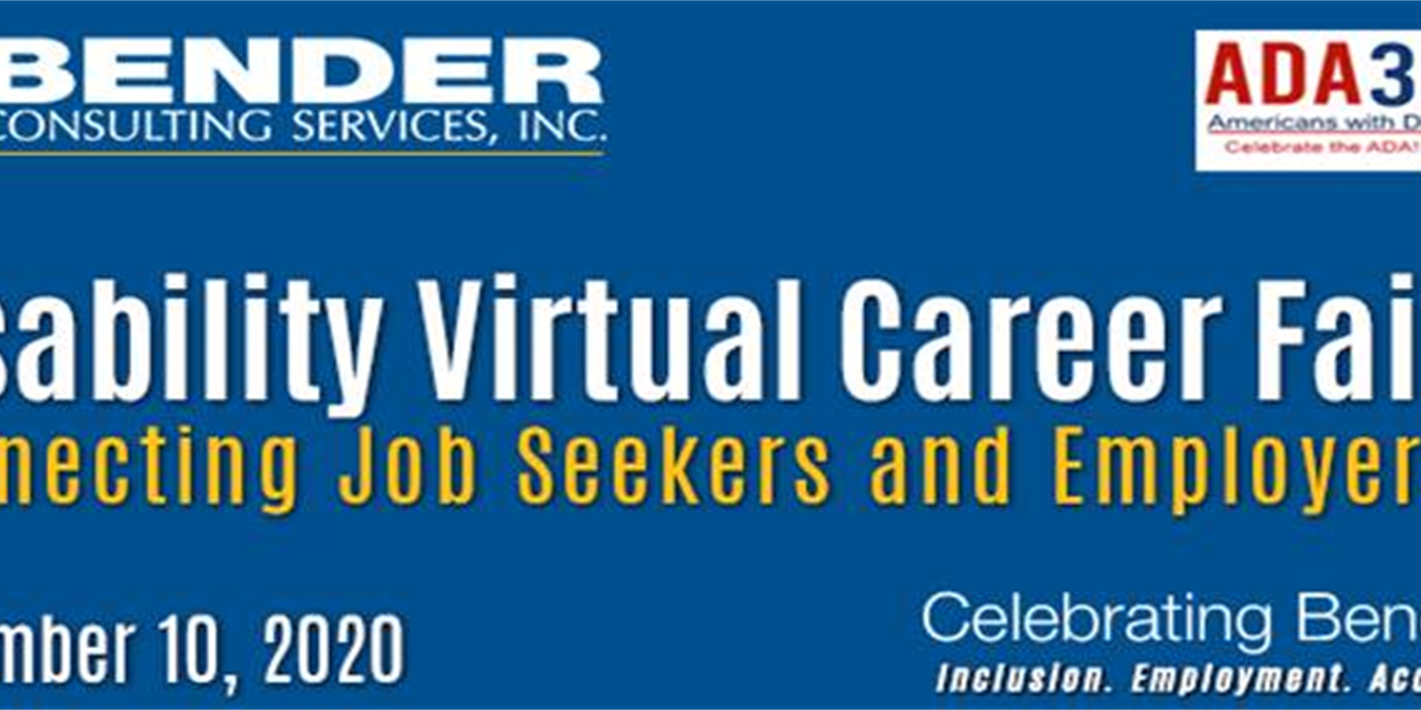 Disability Virtual Career Fair hosted by Bender Consulting Services, Inc. Event Logo