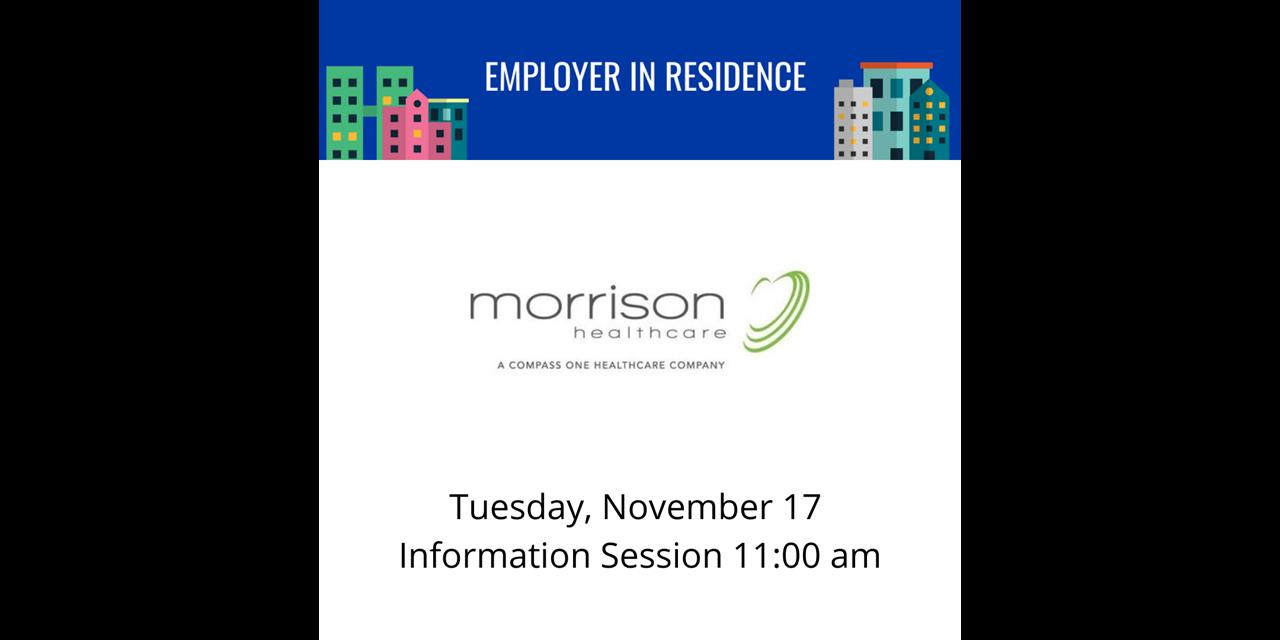 Morrison Healthcare   Employer in Residence Event Logo