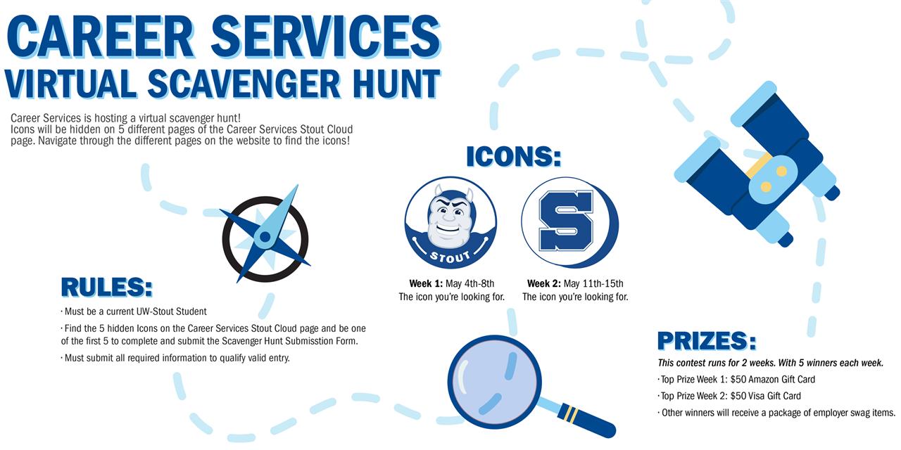 Career Services Virtual Scavenger Hunt Event Logo