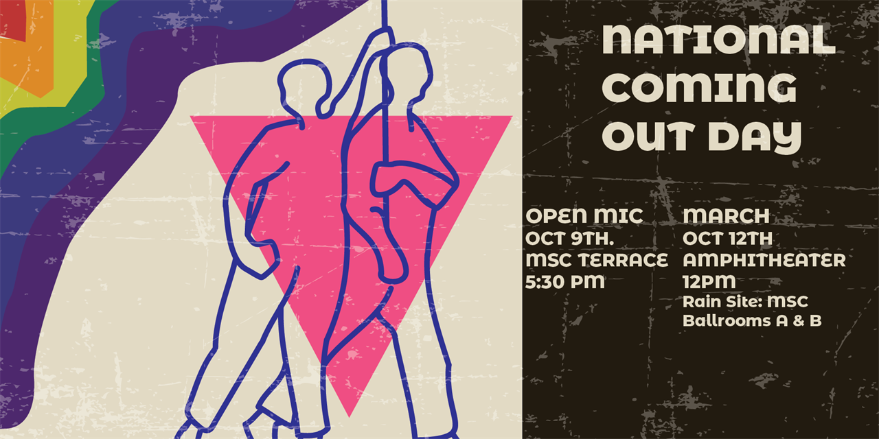 National Coming Out Day March Event Logo