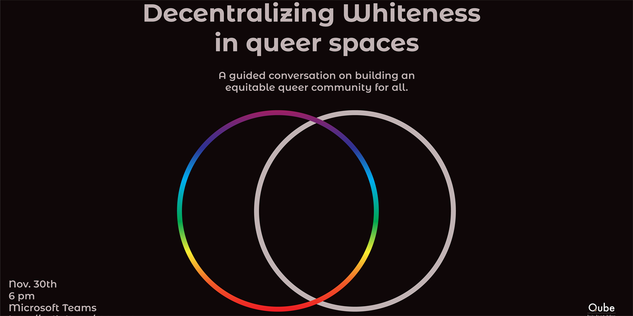 Brown Bag Discussion: Decentralizing Whiteness in Queer Spaces Event Logo