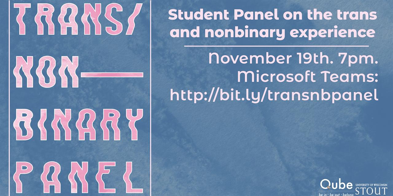 Trans/Non-Binary Panel Event Logo