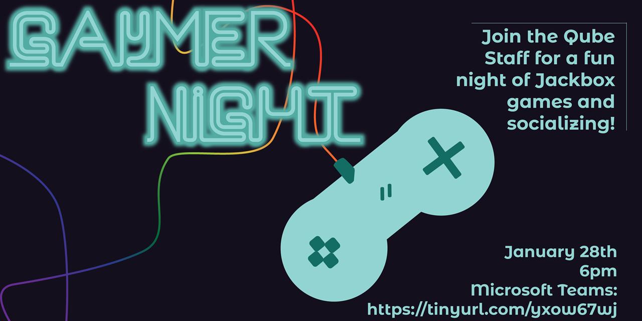 QUBE | Gaymer Night Event Logo
