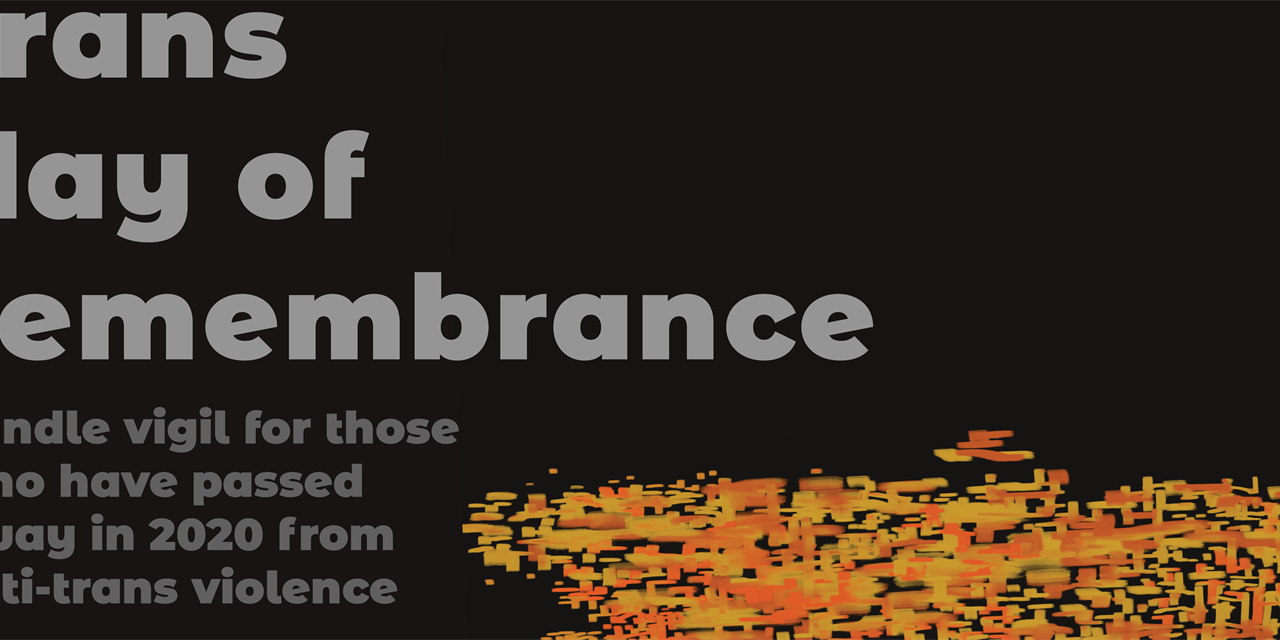 Trans Day of Remembrance Event Logo