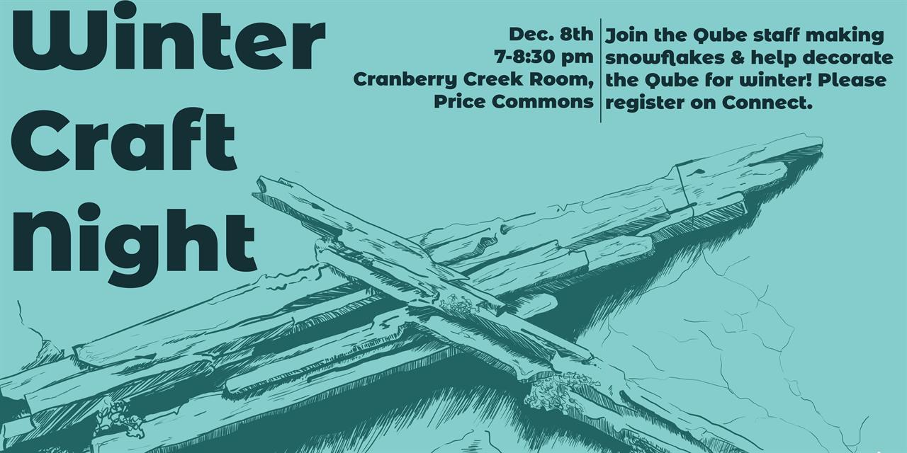 Qube Winter Craft Night Event Logo