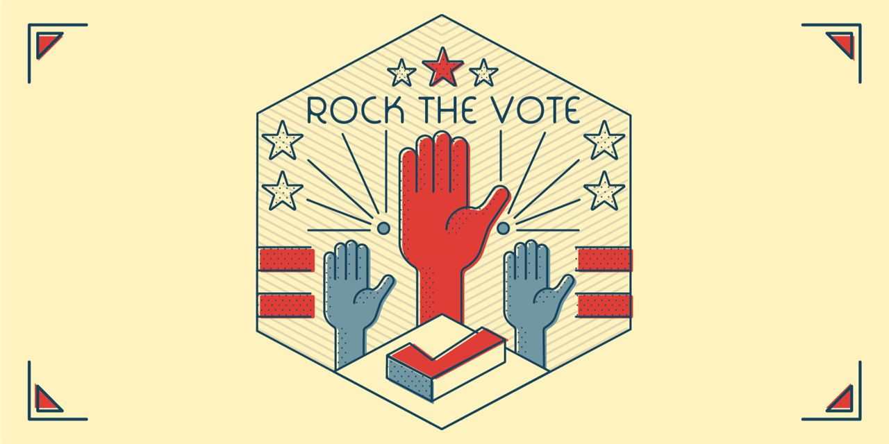 Rock The Vote: Election Watch Party Event Logo